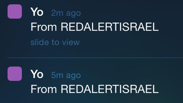 Yo push notifications