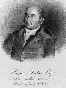 Line drawing of James Sadler