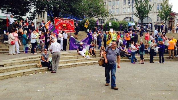 Swansea rally