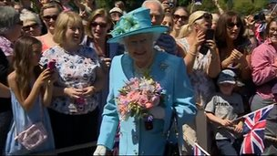 The Queen in Matlock