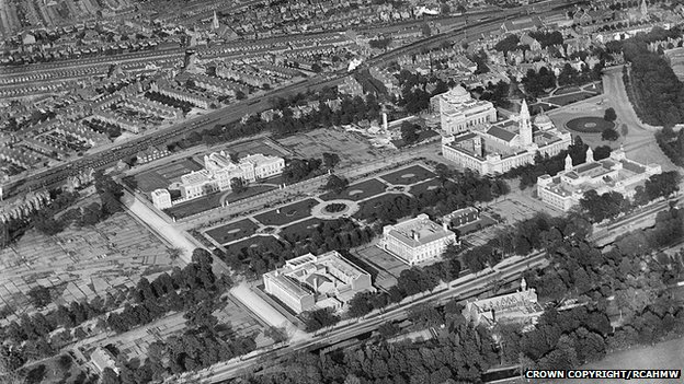 Cathays Park, Cardiff, in 1920