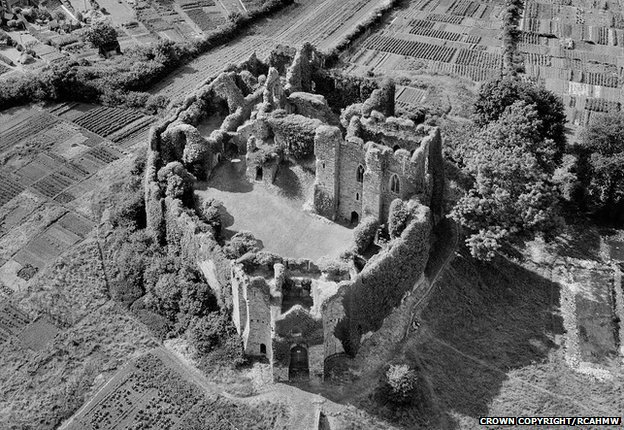 Oystermouth Castle, Swansea in 1947