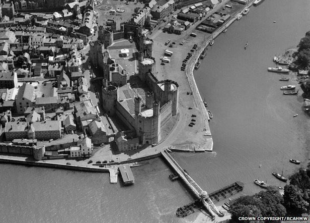 Caernarfon Castle in 1953
