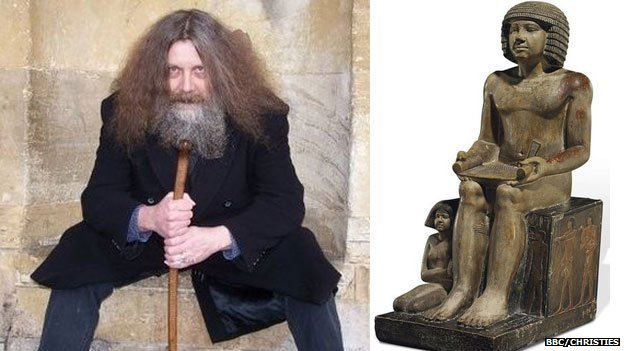 Alan Moore and Sekhemka statue