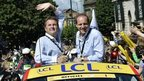 Gary Verity (left) and Christian Prudhomme