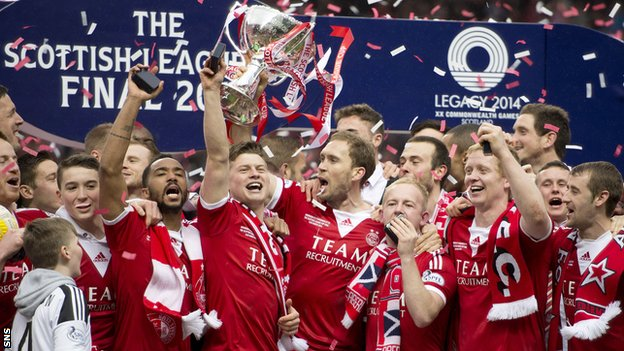 Aberdeen League Cup winners 2014