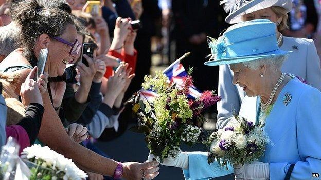The Queen in Matlock