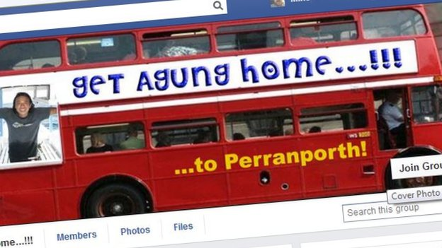 Agung Mantra Facebook bus picture