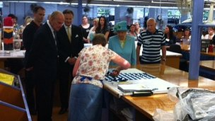 The Queen at John Smedley