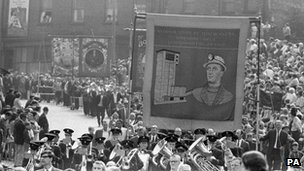 Durham Miners' Gala on 19/06/1970