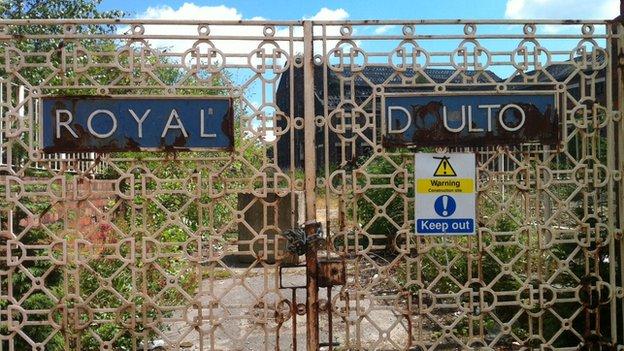 Royal Doulton factory gates