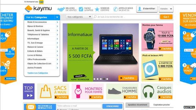 Kaymu Ivory Coast home page