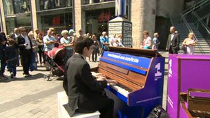 Pianos in Liverpool One