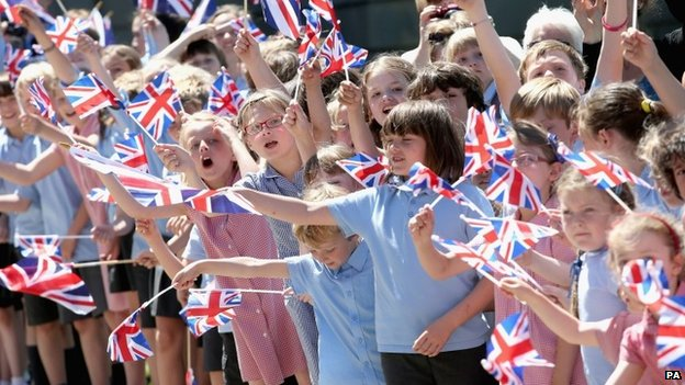 School children at Chatsworth House