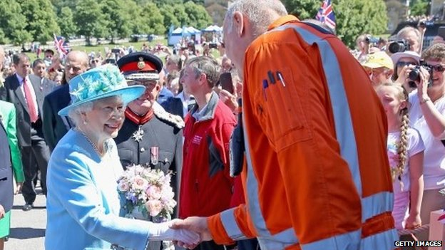 The Queen at Chatsworth
