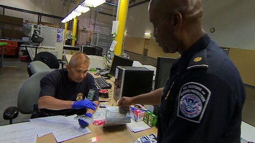 US customs officers