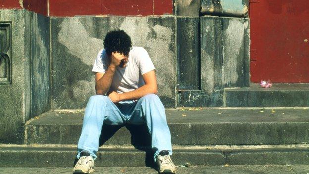 Depressed boy
