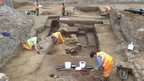Archaeologists in Northampton town centre