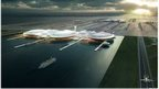 Artist's impression of island airport