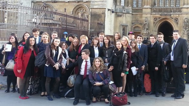 Funky Dragon members visit the Houses of Parliament