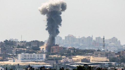 Israeli air strike in Gaza City
