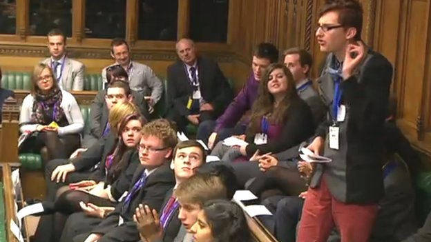Youth Parliament meets in the House of Commons