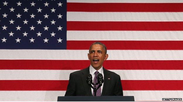 US President Barack Obama appeared in Washington on 25 June 2014