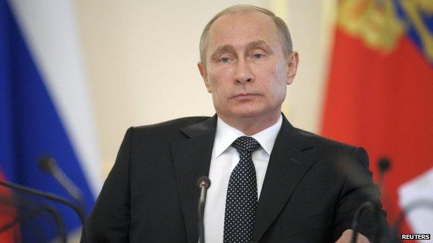 Russian President Vladimir Putin appeared near Moscow on 11 June 2014