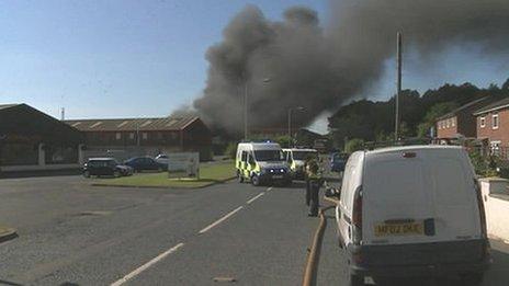 Carlisle waste site fire
