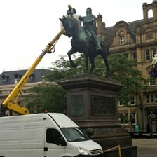 Black Prince statue in Leeds