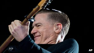 Bryan Adams performs at an open-air concert at the state festival Hessentag