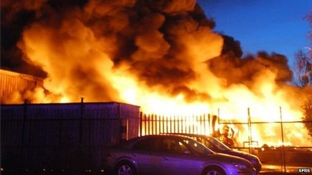 The Renfrew tyre fire
