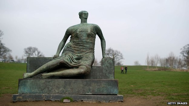 Draped Seated Woman - Henry Moore
