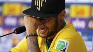 Neymar crying