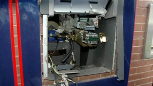 Blown up cash machine
