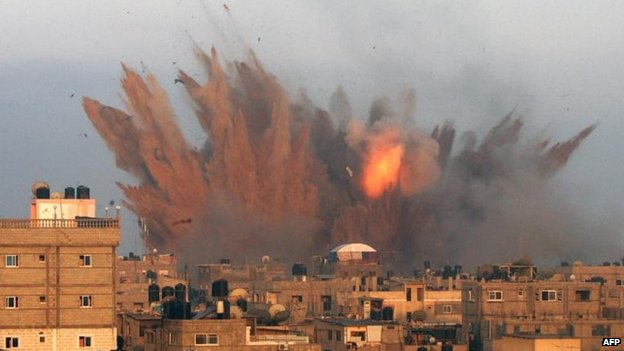 Israeli air strike in Rafah, 11 July