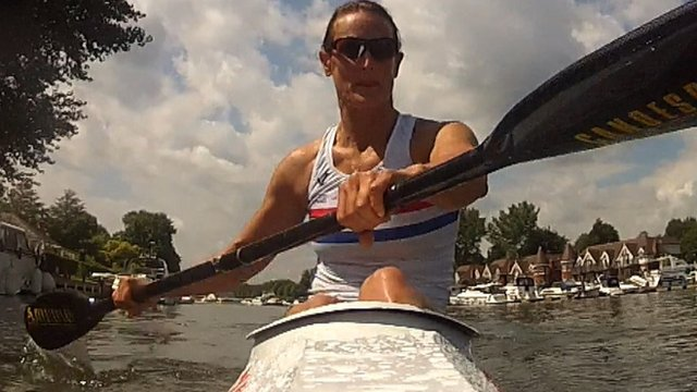 Former mountain biker Anne Dickins is set on Paralympic glory in her canoe