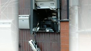 Exploded cash machine