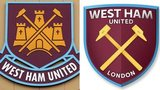 West Ham's current crest and proposed redesign