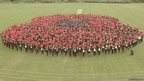 The giant poppy created by Bohunt School