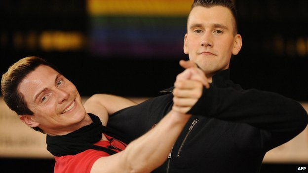 Same-sex dance competitors