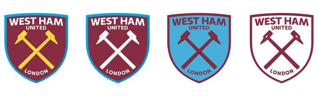 bbc sport west ham hammers fans vote in favour of new club crest. Black Bedroom Furniture Sets. Home Design Ideas
