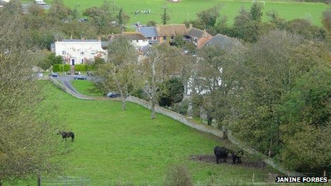 Ovingdean from Cattle Hill