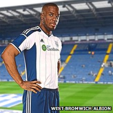 West Brom player in new 2014/15 home kit