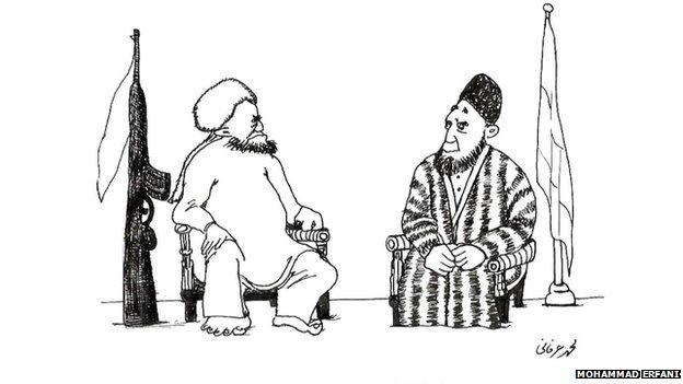 Peace talks are a recurrent theme of many Afghan cartoonists' work