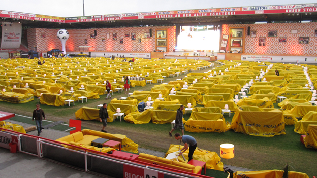 Union Berlin's stadium on Thursday