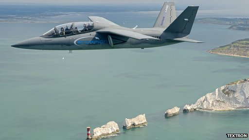 Scopion flies over Isle of Wight