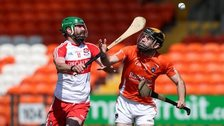 Derry captain Ruairi Convery (left) scored 1-11 against Down to fire the team into Sunday's Ulster hurling final