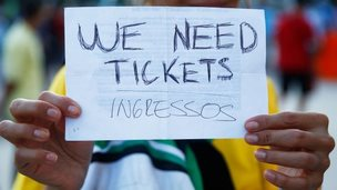 World Cup 2014 fan appeals for tickets