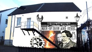 An artists' impression of how the new Mushet mural will look